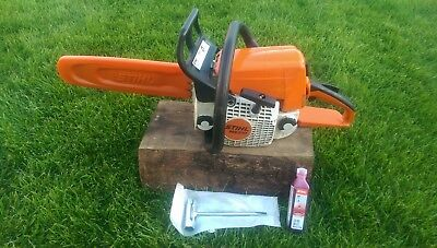 "stihl ms210 chainsaw 14"" bar fully serviced in good working order 2006 model"