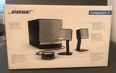 Bose Companion 3 Series II Computer Multimedia Speaker System Black 120V