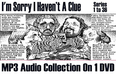 I'm Sorry I Haven't A Clue, Series 1 to 36 Classic Radio MP3 DVD