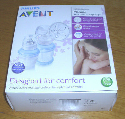 Philips AVENT Manual Breast Pump with storage cups