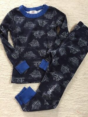 HANNA ANDERSSON Pirate Ship Pajama Bottom Top Set Size 110 5T