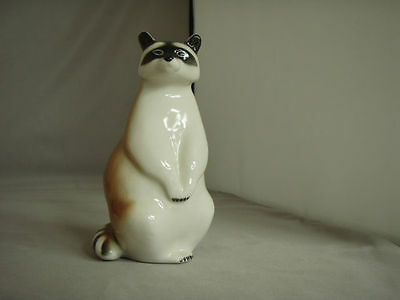 *SALE*Vintage Lomonsov Raccoon, made in USSR, imperial porcelain, mint condition
