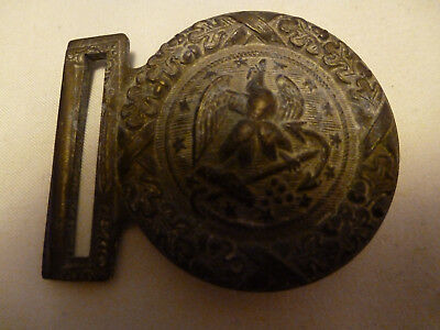 Old & Rare - Solid Brass Naval(Confederate ?) Belt Buckle