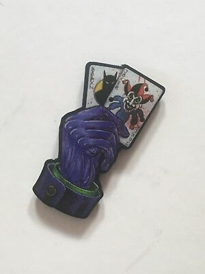 DC Comics Joker/Batman Playing Card Epoxy Pin