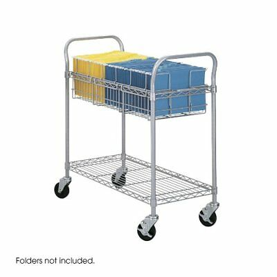 Safco Products 5236GR Wire Mail Cart Legal Size Gray