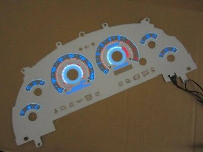 1999-2004 Ford Mustang GT V8 white face reverse G3 glow gauges 150mph CLUSTER