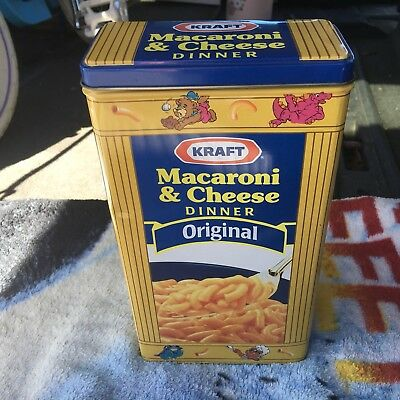 "Kraft Macaroni & Cheese Dinner Dinomac 9"" Tall Metal Tin"