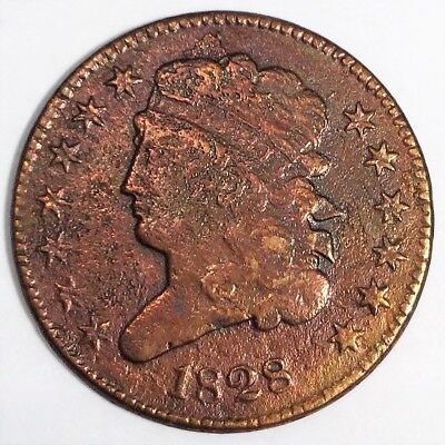 1828 Classic Head Half Cent Beautiful High Grade Coin Rare Date