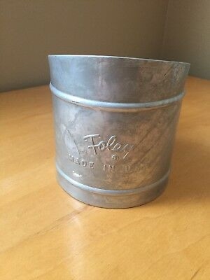 Vintage Foley Metal Flour Sifter/Sieve Shaker Made In USA kitchen decor