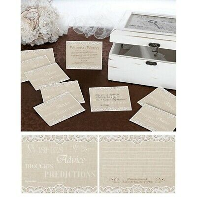 Wedding Wishes Cards 48 Guest Book Alternative Wishing Well Reception Decoration