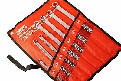X-Steel 7pc Set Cr-V Aviation Extra Long Two Flat Ring Spanner 8x10-22x24mm