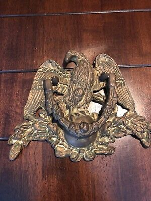 Antique Heavy Copper Brass Eagle Door Knocker
