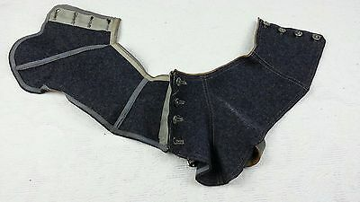 Antique Victorian Era 1800's Pair of shoe boot Wool Spats shoe Covers.