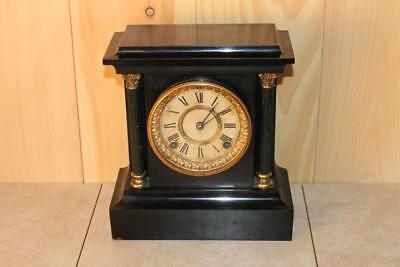 Classic Antique Iron Ansonia Mantle Clock
