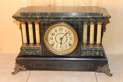 Antique Seth Thomas Adamantine Mantle Clock *Running* C. 1900
