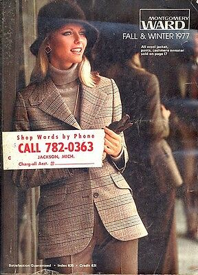 WARDS 1977 FALL-WINTER CATALOG in Very Good+/Fine condition