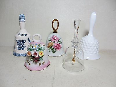 5 Pretty Bells to Display Bisque, January Flower, Florida, San Francisco, Fenton
