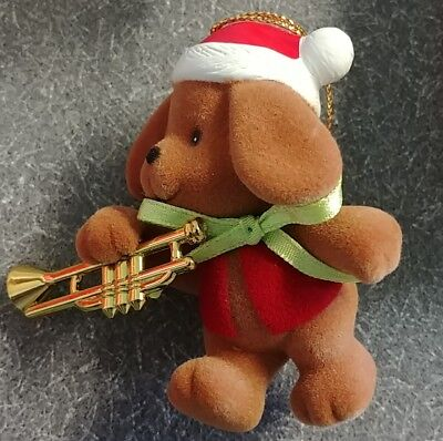 NEW Avon Merry Marchers Christmas Ornament - Puppy with Trumpet NIB