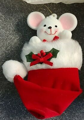 New Avon Gift Collection Peek-A-Boo Mouse Stocking Ornament NIB