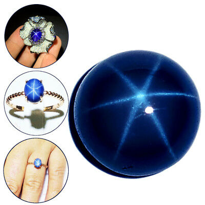 6mm Natural Blue Star Sapphire Round Cabochon Loose stone 6 Rays Gemstones