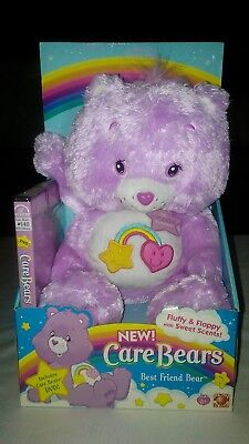 Collectible NIB Care Bears Fluffy and Floppy Best Friend Bear with DVD