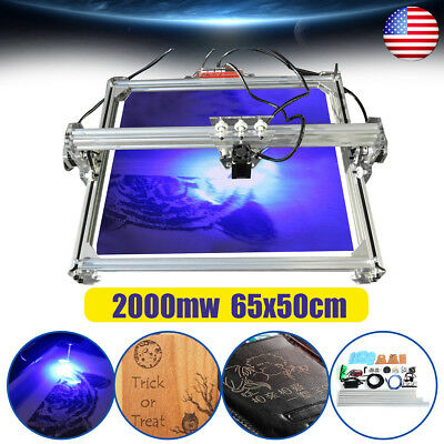 2000mw 65x50cm CNC 2-Axis DIY Laser Engraving Machine Desktop Marking Printer US