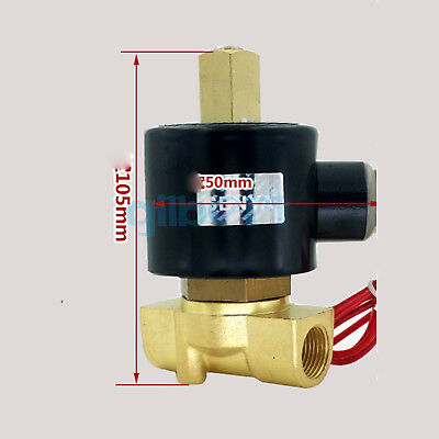 """DC12/24V AC110/220V 3/8""""BSPP Normally Open Brass Gas Oil Water Solenoid Valve"""