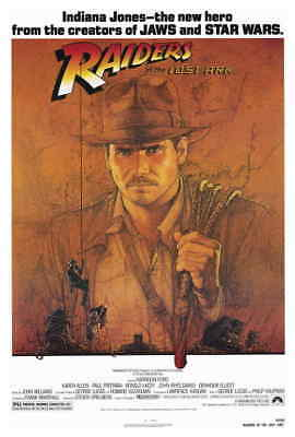 NEW Raiders Of The Lost Ark (1981) Style-A 27x40 80s Harrison Ford Movie Poster