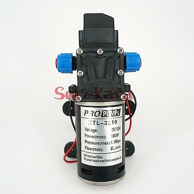 T-YB DC 12V 100W Self-priming Booster Diaphragm Pump Automatic Switch 480L/H
