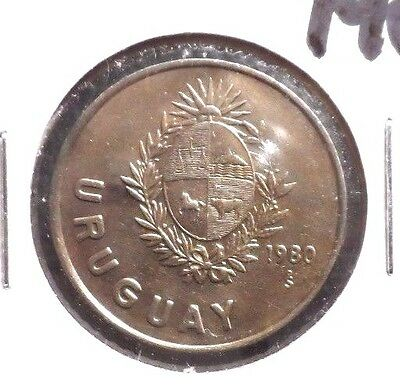 Circulated 1980 N$1 Uruguay Coin (70716)