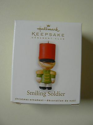 Hallmark Ornament 2010 SMILING SOLDIER Miniature New in Box Mini Club Exclusive