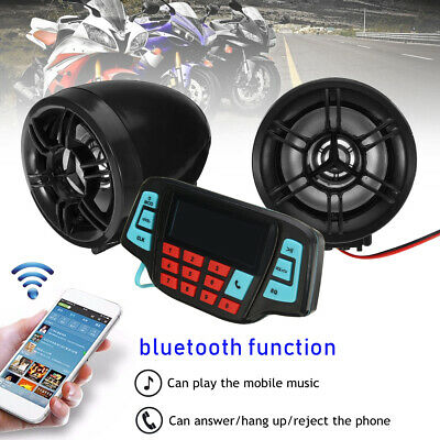 Motorcycle Bluetooth Audio System FM Radio Stereo Speaker Waterproof MP3 Player
