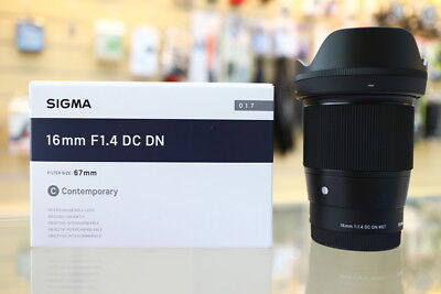 Sigma 16mm f/1.4 DC DN Contemporary Lens for Sony E VB