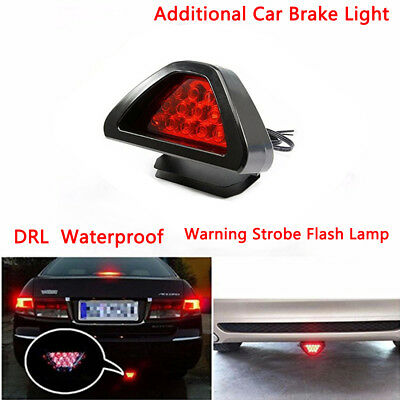 12 LED Additional Car Brake Light Vehicle Reverse Lamp Warning Strobe Flash Lamp