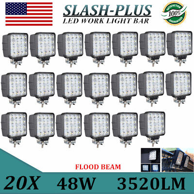 20X 48W 16*LED Work Light Flood Light OffRoad ATV SUV Boat Jeep Truck 12V24V 4WD