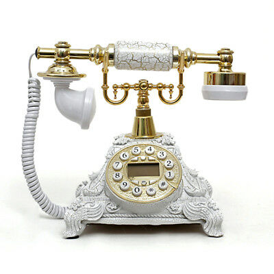 New Corded Telephone Vintage Retro Home House Phone Classic Style Ringer Nice