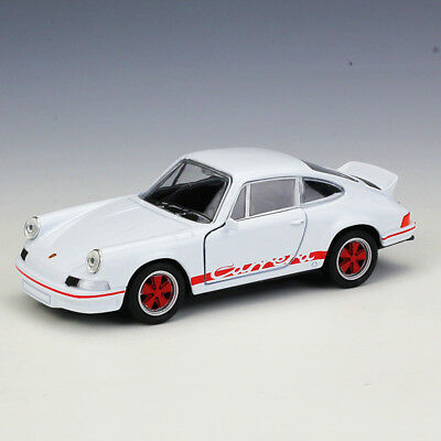 Welly 1:36 1973 Porsche Carrera RS Metal Diecast Model Car Pull Back Toy White