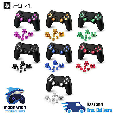 ALUMINIUM METAL ANALOG Sticks + Action Buttons + D-pad for PS4 Controller