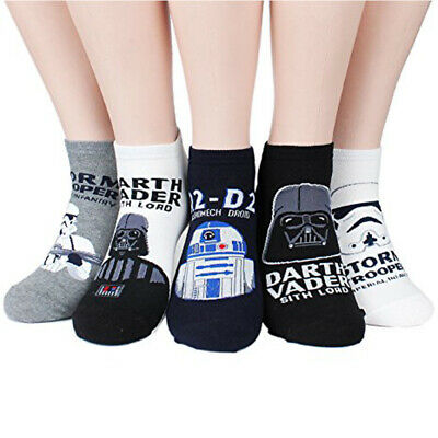 Fashion Cotton Socks StarWars Low Cut Darth Vader Face Character Socks Unisex