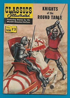 Classics Illustrated Comic Book # 108  Knights of the Round Table  #435