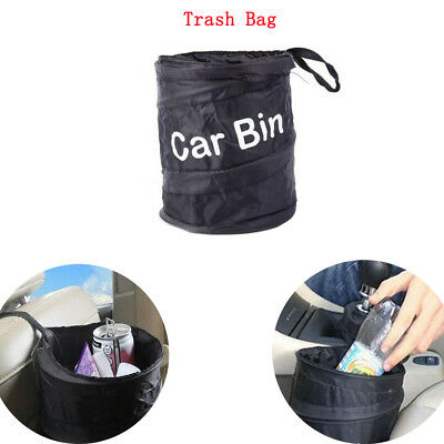 1x Collapsible Car Bin Water Resistant Black Litter Waste Rubbish Trash Bag