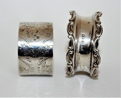 ANTIQUE SILVER NAPKIN RINGS 2x SILVER IN GOOD CONDITION.
