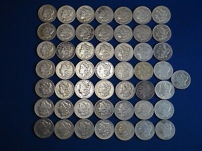 1878-1904 Morgan Silver Dollars F-VF (Fine-Very Fine) Pre-1921 Lot of 50 Coins