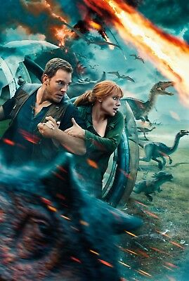 JURASSIC WORLD FALLEN Kingdom Textless Movie Poster Chris Pratt Bryce Howard