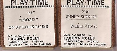 Pianola Rolls for 65-note  ONLY Laguna- Boogie on St.Louis Blues + Sunny Side Up
