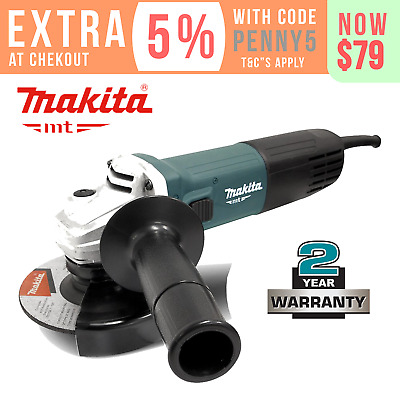 """Makita Angle Grinder 850W 125mm (5"""") MT Series Power Corded New Grinding M9511G"""