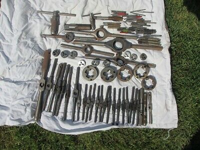 vintage taps and dies - job lot