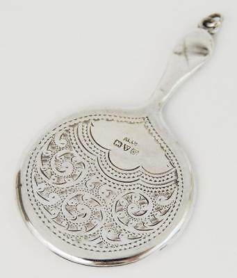 Sweet STERLING SILVER FOB HAND MIRROR GEORGE V CHESTER 1919