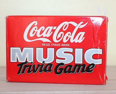 Vtg Coca Cola Coke Music Trivia Game New in Box Family Fun Cards Unused Toy