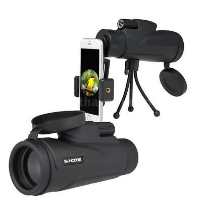 12×50 High Power Monocular Telescope Scope with Tripod Smartphone Adapter U9Z0